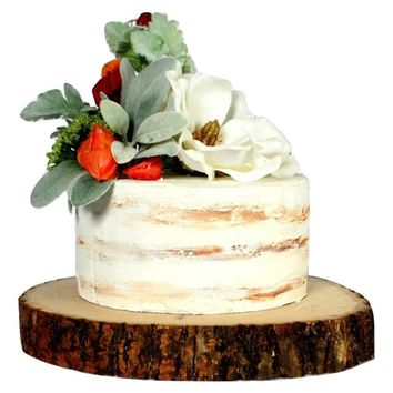 Fake Cake in Greenery & Cream