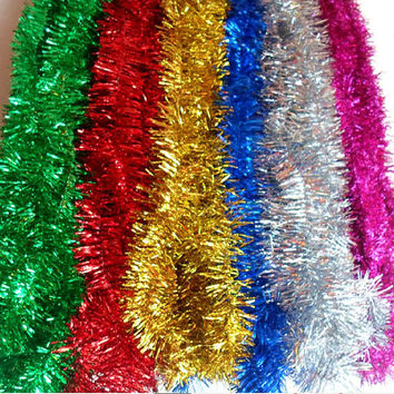 2M /Pcs Colorful Bar Christmas Tree Omament Garland Decoration Supplies Encryption Wedding Holiday Decorations