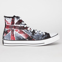 Converse Union Jack Chuck Taylor All Star Hi Mens Shoes Black/Chili  In Sizes