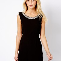 New Look Embellished Neckline Playsuit