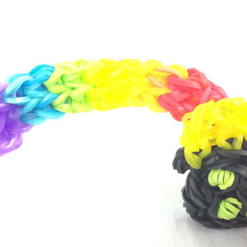 Rainbow with a Pot of Gold Rainbow Loom Handmade Rubber Band Party Favors