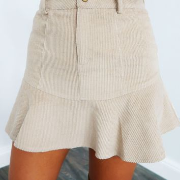 You Should Dream Skirt: Beige