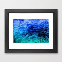 RUFFLED BLUE Framed Art Print by catspaws