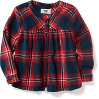 Mandarin-Collar Plaid Tunic for Toddler | Old Navy