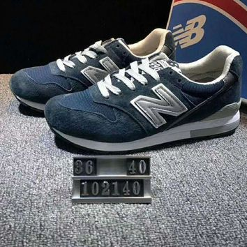 ONETOW new balance fashion casual all match n words breathable couple sneakers shoes dark peacock blue i xyxy ftq