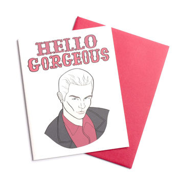 Hello Gorgeous Spike Greeting Card