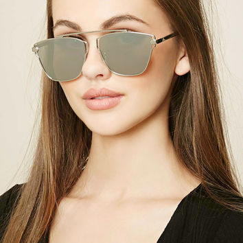 Mirrored Cutout Sunglasses
