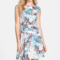 Women's French Connection 'Isla' Ripple Print Jersey Fit & Flare Dress