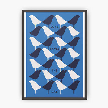 Scandinavian Kitchen print-Mid century modern poster-Modern print -Paul Rand-Retro kitchen print-Kitchen posters-Home decor-Office decor