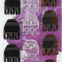 Goody Claw Clips - Goody Set Of Mini Claw Clips In Dark Brown, Clear And Light Brown