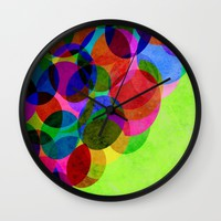 Up Wall Clock by Miss L In Art