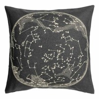 Cushion cover with a motif - Anthracite grey/White - Home All | H&M GB