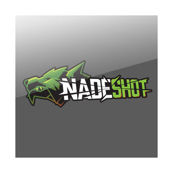 "NaDeSHot 36"" Logo Wall Decal - GrnWht"