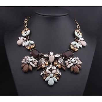 English Saddle Brown Statement Necklace