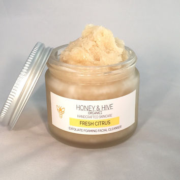 Organic Face Wash, Exfoliating Face Scrub, Organic Facial Cleanser, Exfoliating Face Scrub, Natural Skin Care