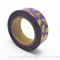 (1pc/Sell) Foil Washi Tape Set Japanese Stationery Scrapbooking Decorative Tapes Adhesive Tape Kawai Fita Adesiva Decorativa