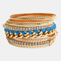 Cara Mixed Media Bangles (Set of 9)