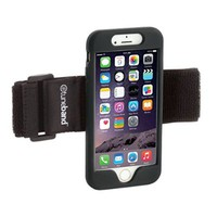 "TuneBand for iPhone 6 / iPhone 6S (4.7"" Screen), Premium Sports Armband with Two Straps and Two Screen Protectors, BLACK"