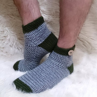 Mens socks, mens, mens gift, boyfriend gift, crochet socks, crochet gift, anniversary gifts for men, gifts for men, button socks, winter