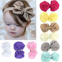 9PCS  Baby Girls Chiffon Flowers head band