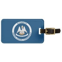 Louisiana Pelican State Personalized Flag Bag Tags