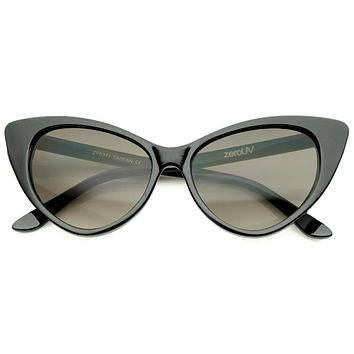 Women's Retro Oversized High Point Cat Eye Sunglasses 55mm