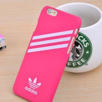 Rose Red Adidas Print Cover Case For Iphone 7 7plus & 6 6s Plus + Gift