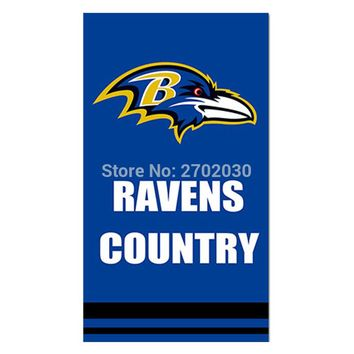 Country Baltimore Ravens Flag Football Team Super Bowl Champions 90x150 Cm Polyester Printed Banner Hanging Decoration