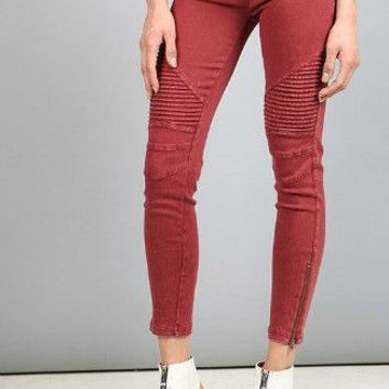 Moto Leggings - Brick