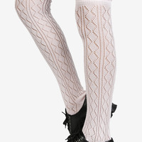 Knitted Knee High Socks - Baby Pink