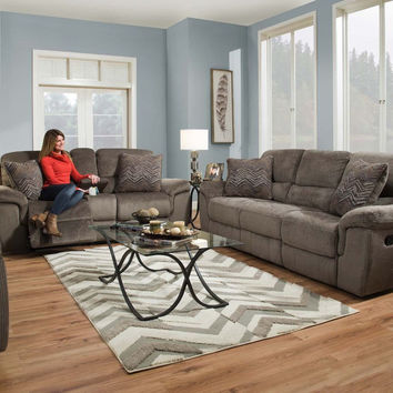 Reilly Gray Reclining Sofa and Loveseat