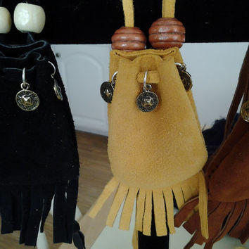 Deer Hide Medicine Bag, Stone Bag