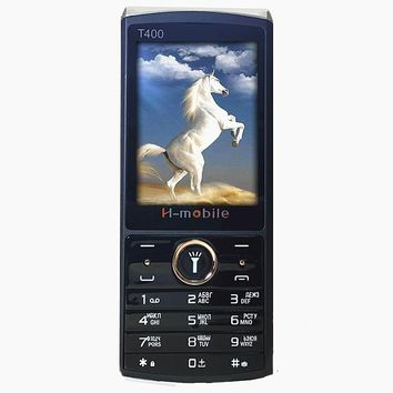 """2.8"""" screen Dual Sim Dual Standby BIg 3D Sound Mobile phone  French Russian Language Russian Keyboard  H-mobile T400"""