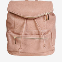 Pretty in Pink Faux Leather Backpack