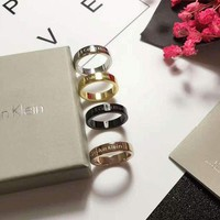 Calvin Klein CK Women Fashion Plated Ring Jewelry