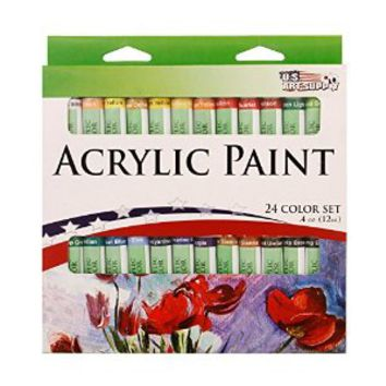US Art Supply® 10ml Tube Artist Paint Set (Acrylic Paint, 24-Tubes)