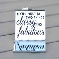 Fashionista gift idea | CoCo Chanel quote | A girl must be two things. Classy and Fabulous. | Gifts under 15 | Gift for her, gift for teen