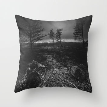 On the wrong side of the lake 10 Throw Pillow by HappyMelvin