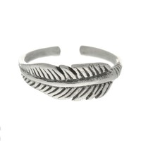 WILD HEART Feather Toe Ring