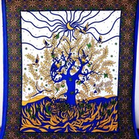 White Tree Of Life Hanging Wall Decor Bedding Bohemian Dorm Room