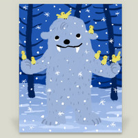Yeti with Birds Art Print by yetzenialeiva on BoomBoomPrints