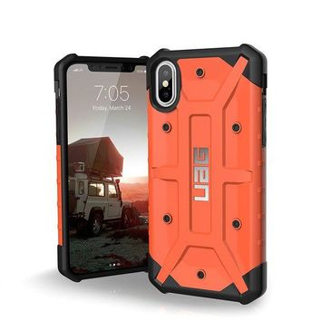 VONEIR6 UAG iPhone X Pathfinder Feather-Light Rugged [RUST] Military Drop Tested iPhone Case