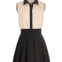 Think Contrast Dress | Mod Retro Vintage Dresses | ModCloth.com