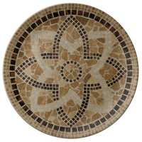 earthen flower mosaic tiles