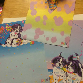 3 Rare Lisa Frank Vintage stationery sheets