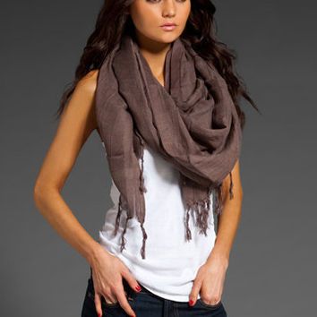 LOVE QUOTES Hand Knotted Fringe Scarf in Coco Shell at Revolve Clothing - Free Shipping!