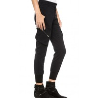 Stretch Cuffs Cargo Trousers With Zip Pockets
