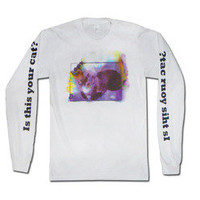 MGMT Music Merchandise Store  - MGMT  Long Sleeve Cat Tee