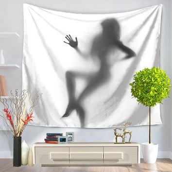 Shadow Printing Sexy Wall Tapestry Wall Hanging Decoration Tapestry TPY13 Jayhome New Design Home Room Blanket Rug Throw