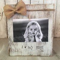 Grandmother Picture Frame / Personalized Rustic Picture Frame / FREE shipping
